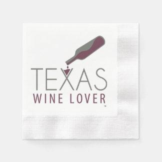Texas Wine Lover Cocktail Napkin