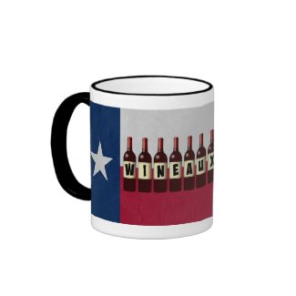 Texas Flag Wineaux Wine Bottles: May Contain Wine Ringer Coffee Mug