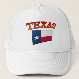 Texas with Flag 3D Trucker Hat