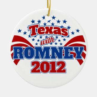 Texas with Romney 2012 Ceramic Ornament