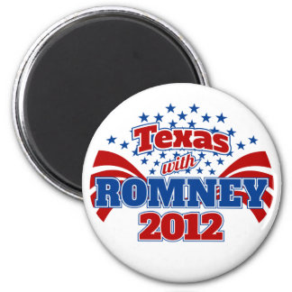 Texas with Romney 2012 Magnet