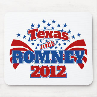 Texas with Romney 2012 Mouse Pad
