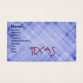 TEXAS WORD BUSINESS CARD