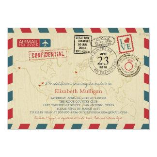 TEXAS World Traveler Airmail | Bridal Shower Card