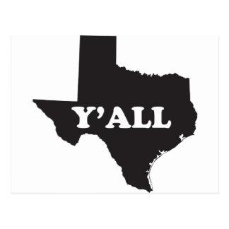 Texas Yall Postcard