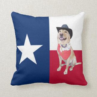 Texas & Yellow Lab American MoJo Pillow