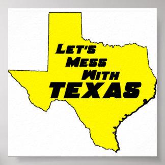 Texas Yellow Poster