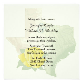 Texas Yellow Rose Wedding Invitation