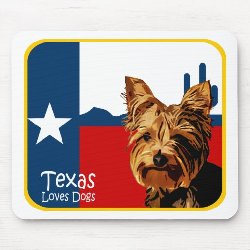 Texas Yorkie Mouse Pads