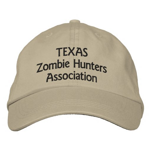 Texas Zombie Hunters Association Embroidered Baseball Cap
