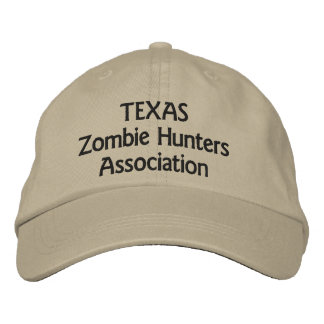 Texas Zombie Hunters Association Embroidered Hat
