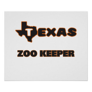 Texas Zoo Keeper Poster