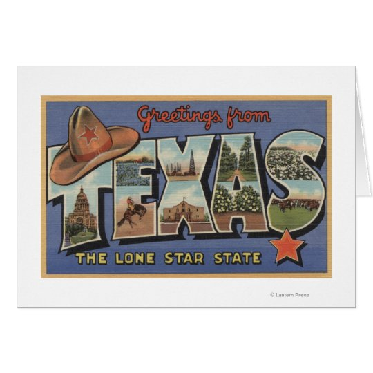 TexasGreetings From The Lone Star State Card