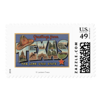 TexasGreetings From The Lone Star State Stamps