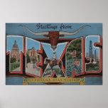 TexasLarge Letter Scenes 3 Posters