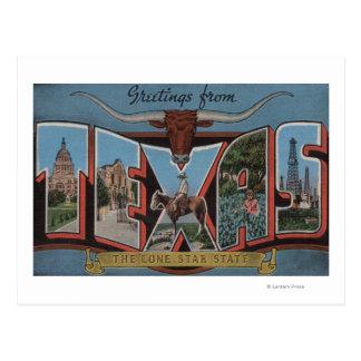 TexasLarge Letter Scenes Postcard