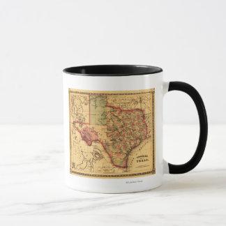 TexasPanoramic Map Mug