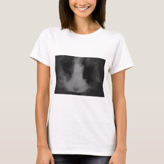 Texel Guinea Pig in Black and White T-Shirt
