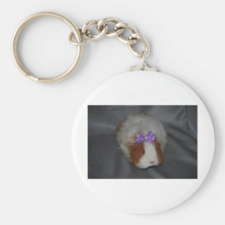 Texel Guinea Pig with bow Keychain