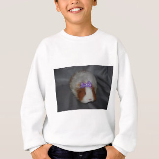 Texel Guinea Pig with bow Sweatshirt