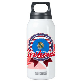 Texhoma, OK 10 Oz Insulated SIGG Thermos Water Bottle