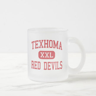 Texhoma - Red Devils - Middle - Texhoma Oklahoma 10 Oz Frosted Glass Coffee Mug