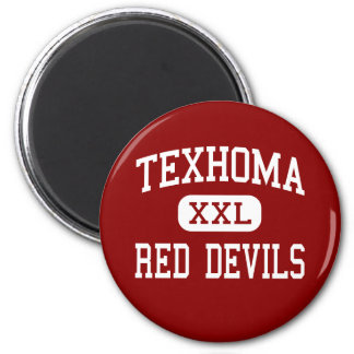 Texhoma - Red Devils - Middle - Texhoma Oklahoma 2 Inch Round Magnet