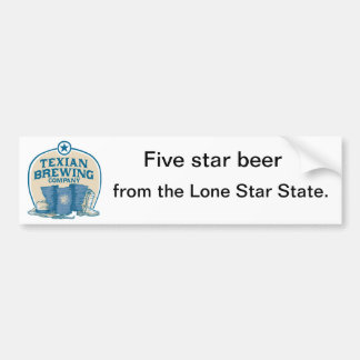 Texian Brewing Co Bumper Sticker