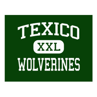 Texico - Wolverines - High - Texico New Mexico Postcard