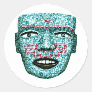 Texmilincan Mask Classic Round Sticker