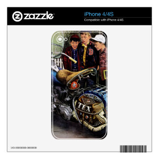 Tex's Motorcycle iPhone 4S Decal