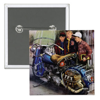 Tex's Motorcycle Pinback Button