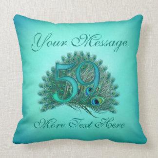 Text 59th Birthday 59th anniversary Pillows