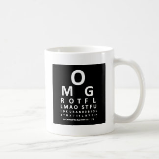 Text Addict's Eye Chart Coffee Mug