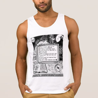 """Text Adventures (A) """"Foreign Words"""" Tanktop"""