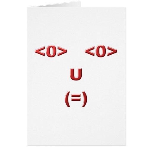 Text ASCII face face Greeting Card