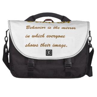 Text BEHAVIOUR: Etiquette Social Sports School MAN Commuter Bags