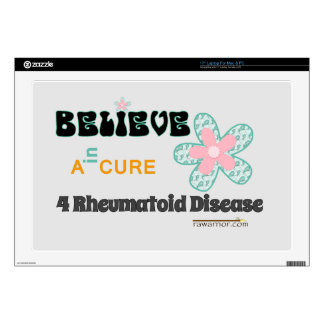 Text: Believe in a cure Skins For Laptops