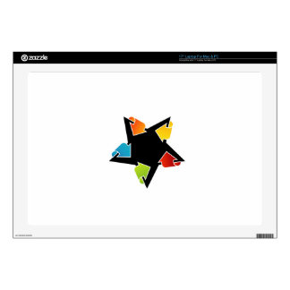 """Text box with arrows 17"""" laptop decal"""