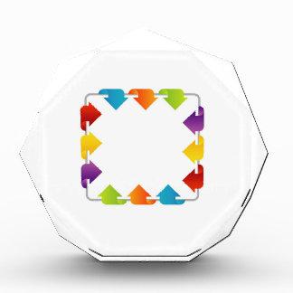 Text box with arrows acrylic award