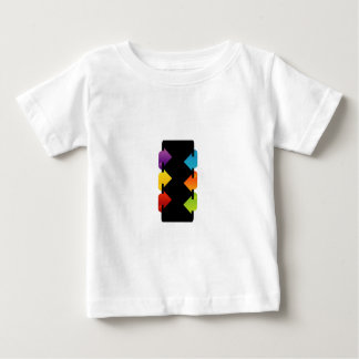 Text box with arrows baby T-Shirt