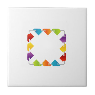 Text box with arrows ceramic tile