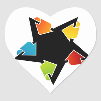 Text box with arrows heart sticker