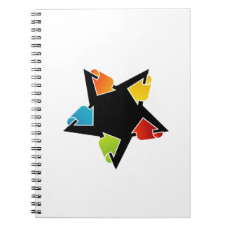 Text box with arrows notebook