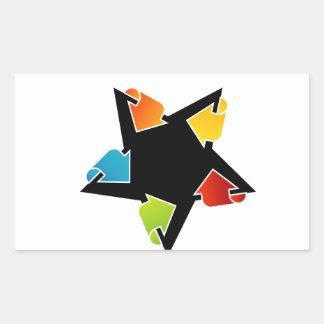 Text box with arrows rectangular sticker