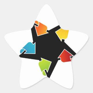 Text box with arrows star sticker