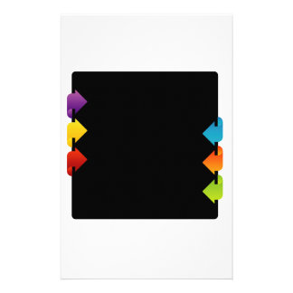 Text box with arrows stationery