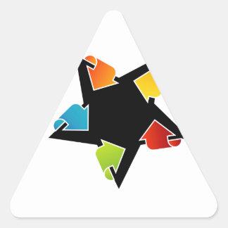 Text box with arrows triangle sticker