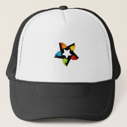Text box with arrows trucker hat