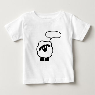 Text Bubble Sheep Baby Shrit Shirt